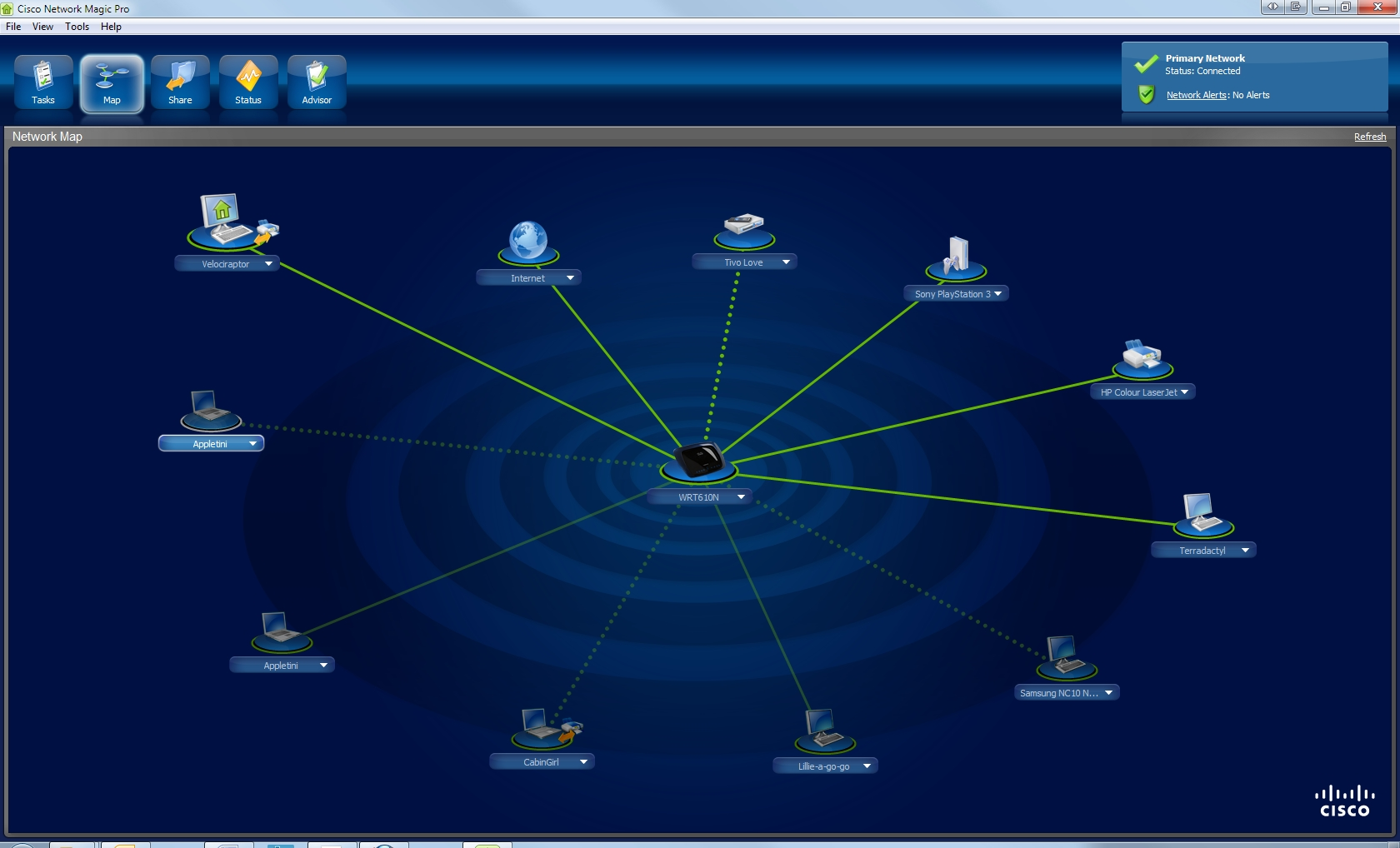 Easy Home Networking Geekgirls Plain English Computing Wireless Network Diagram Computer Setup Router Software Has Become Far Easier To Use And More Sophisticated Cisco Includes The Excellent Elegant Magic With Its Routers