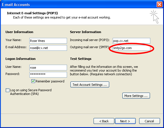 Portable SMTP: Take your email with you | Geekgirl's Plain