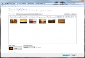Use any public Picasa web album for your desktop wallpaper feed.
